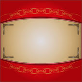 The frame on the red background — Stock Vector