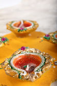 Decorative indian diya — Stock Photo