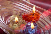 Diya floating on water — Stock Photo