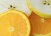 Frutas (plano de fundo) — Fotografia Stock