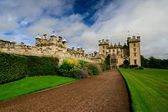 Castle with lawn — Stock Photo