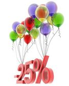 3d model twenty-five percent discount — Stock Photo