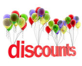 3d word discount — Foto de Stock