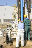 Core drilling underground. — Stock Photo