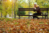 Autumn in park — Stock Photo