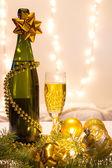 新的一年喝 — 图库照片