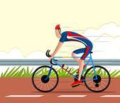 Cyclist riding Sports Cycle — Stockvektor