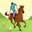 Stock Vector: Polo Player