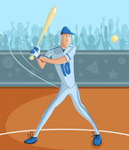 Baseball Batter — Vector de stock