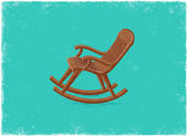 Retro rocking chair — Vector de stock