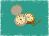 Antique Watch — Vector de stock