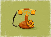 Antique telephone — Stock Vector