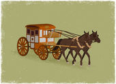 Horse Buggy — Stock Vector