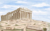 Athens Parthenon ancient Temple — Stock Photo