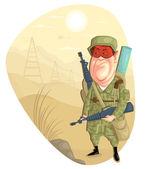 Hombre del ejército — Vector de stock