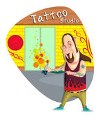 Tattoo Artist — Stock Vector