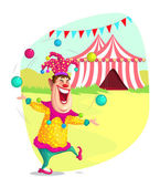 Circus Clown — Stock Vector