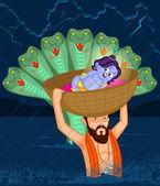 Krishna Janmashtami — Stock Vector