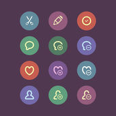 Flat social media and marketing icons — Stockvector
