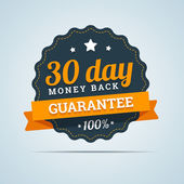 30 day money back badge. — Stock Vector