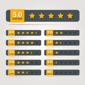 Rating stars badges. — Stock Vector