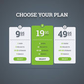 Pricing plans. — Stock Vector