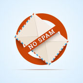 No spam illustration. — Stock Vector