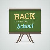 Back to school illustration on green board. — Stockvektor