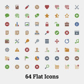 64 Glyph vector icons for web and mobile application. — Stock Vector