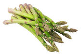 Fresh green asparagus on white — Stock Photo
