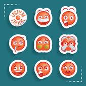 Emoticon Stickers — Stock Vector