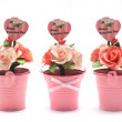 Artificial rose bouquet for valentine day — Stock Photo #42317025