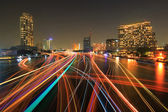 Boat light trails — Stock Photo
