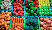 Colorful of artificial fruits and vegetable — Stock Photo