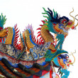 Chinese dragon statue on roof — Stock Photo