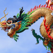 Chinese dragon on sky background — Stock Photo