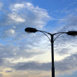 Street light on beautiful sky background — Stock Photo