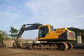 Excavator and backhoe — Stock Photo