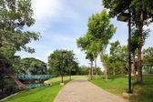 绿色城市公园 — 图库照片