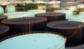 Storage oil tanks — Stock Photo