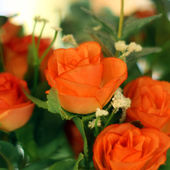 Rose artificial flower — Stock Photo