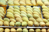 Pile of mango on market tray — Stock fotografie