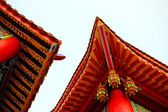Gable roof in chinese style — Stock Photo