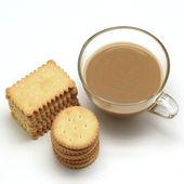 Sušenky a káva — Stock fotografie