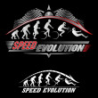 Human evolution of speed — Stock Vector