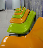 Chair, yellow and green. — Stock Photo