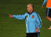 Spanish football coach Vicente del Bosque — Foto de Stock