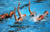 Spanish synchronized swimming team. — Stock Photo