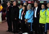 Spanish Soccer Team — Stock Photo