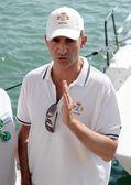 Spanish King Felipe VI in King's Cup Sailing celebrated in Majorca, Aug 2014. — Stock Photo